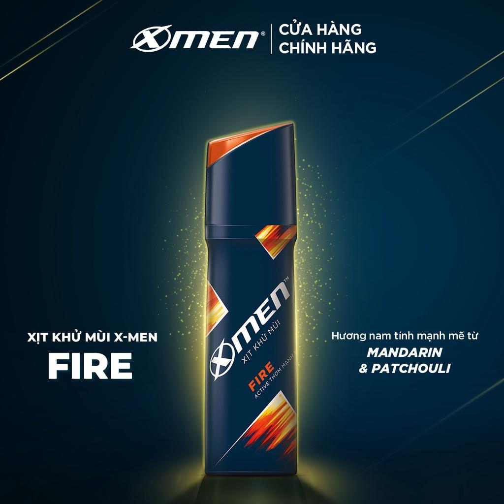 Xịt khử mùi X-men Fire 150ml phiên bản mới