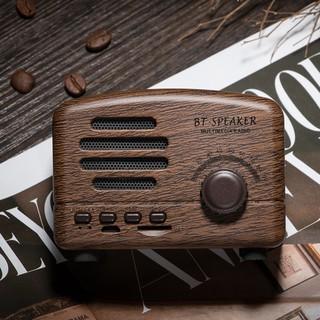 [ HÀNG CHÍNH HÃNG ]  Loa Bluetooth mini cổ điển BT01 vân gỗ vintage decor phòng
