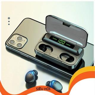 Tai Nghe Bluetooth Không Dây Nhét Tai 5.0 Amoi F9 Pro Nút Cảm Ứng Kiêm Sạc Pin Dự Phòng HALOSIM_SHOP