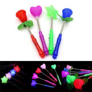 BEW Star LED Toys Luxury Magic Star Wand Flashing Light Up Stick For X mas Gift