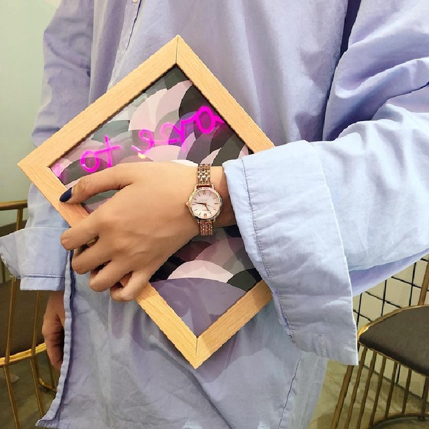 นาฬิกาผู้หญิงแบบโรมันเนื้อโลหะแฟชั่นเกาหลีนาฬิกาง่าย ๆ 294