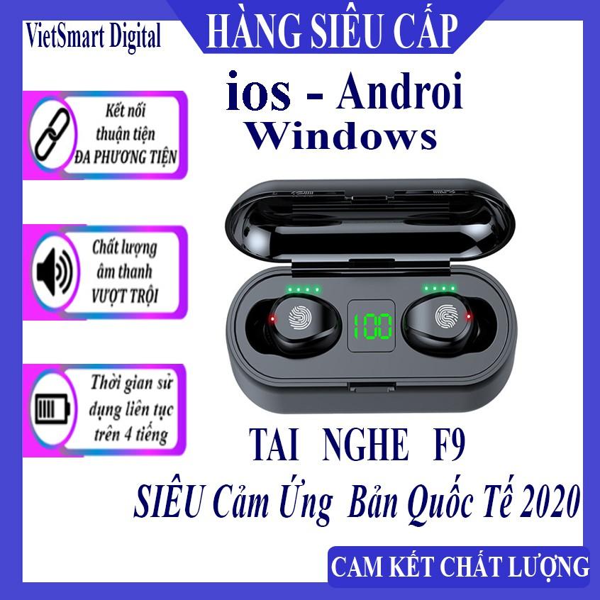Tai Nghe Bluetooth, Tai Nghe Không Dây AMOI F9 TWS 5.0 9D, Cảm Ứng Chạm, Chống Nước, Chống Ồn