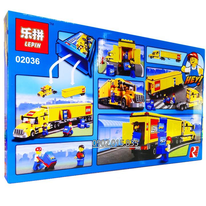 Bộ Lego Xếp Hình Ninjago City Siêu Xe Container No.02036. Gồm 298 chi tiết. Lego Ninjago Lắp Ráp Đồ Chơi...