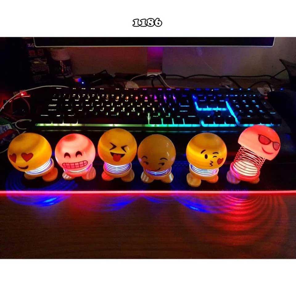 (XẢ HẾT) Thú nhún emoji cảm xúc có đèn phát sáng, giải trí, biểu cảm khác nhau giải trí