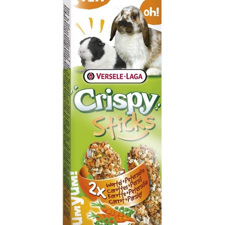 VerseleLaga คริสปี้สติ๊ก ขนมแครอทและพาสลีย์   Versele-Laga Crispy Stick Carrot&Pasley Snack Small Pets,110 g.