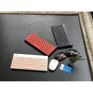 Bộ bàn phím Chuột Không dây Cao cấp Forter 1500, Hồng – Trắng