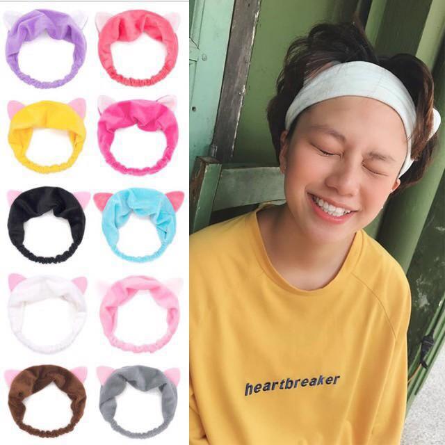 Phụ kiện tóc băng đô turban tai mèo Hàn Quốc dễ thương