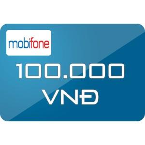 Mã thẻ nạp điện thoại mobi 100k