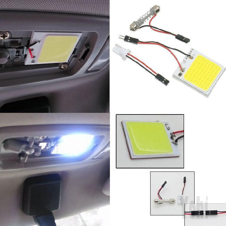White 48 SMD COB LED 4W T10 12V Car Interior Light Dome Lamp Bulb HOT SALE 217