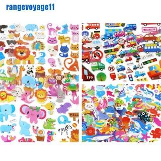 [range] 5 Sheets Cute Cartoon Scrapbooking Bubble Puffy Stickers Reward Kids Gift Toys [vn]