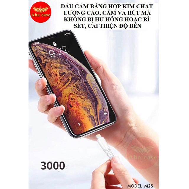 [Cáp Sạc Dù Chống Đứt] SIÊU BỀN -CHÍNH HÃNG SD M25 ✓Dây sạc Iphone, Android, Type C, BH 12 Tháng 1 đổi 1