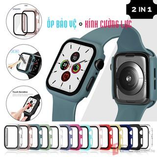 Ốp Bảo Vệ Apple Watch Mặt Kính Cường Lực Series 4 | 5 | 6 kích thước 40mm 44mm Chống Trầy Sước Va Đập Bể Vỡ Màn Hình