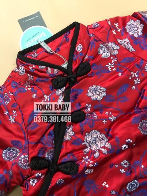 Áo gấm Tết cho bé gái (có quần đi kèm)