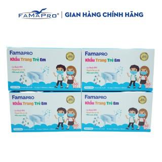 Combo 4 hộp khẩu trang y tế trẻ em kháng khuẩn 3 lớp Famapro max kid ( 50 cái hộp ) thumbnail