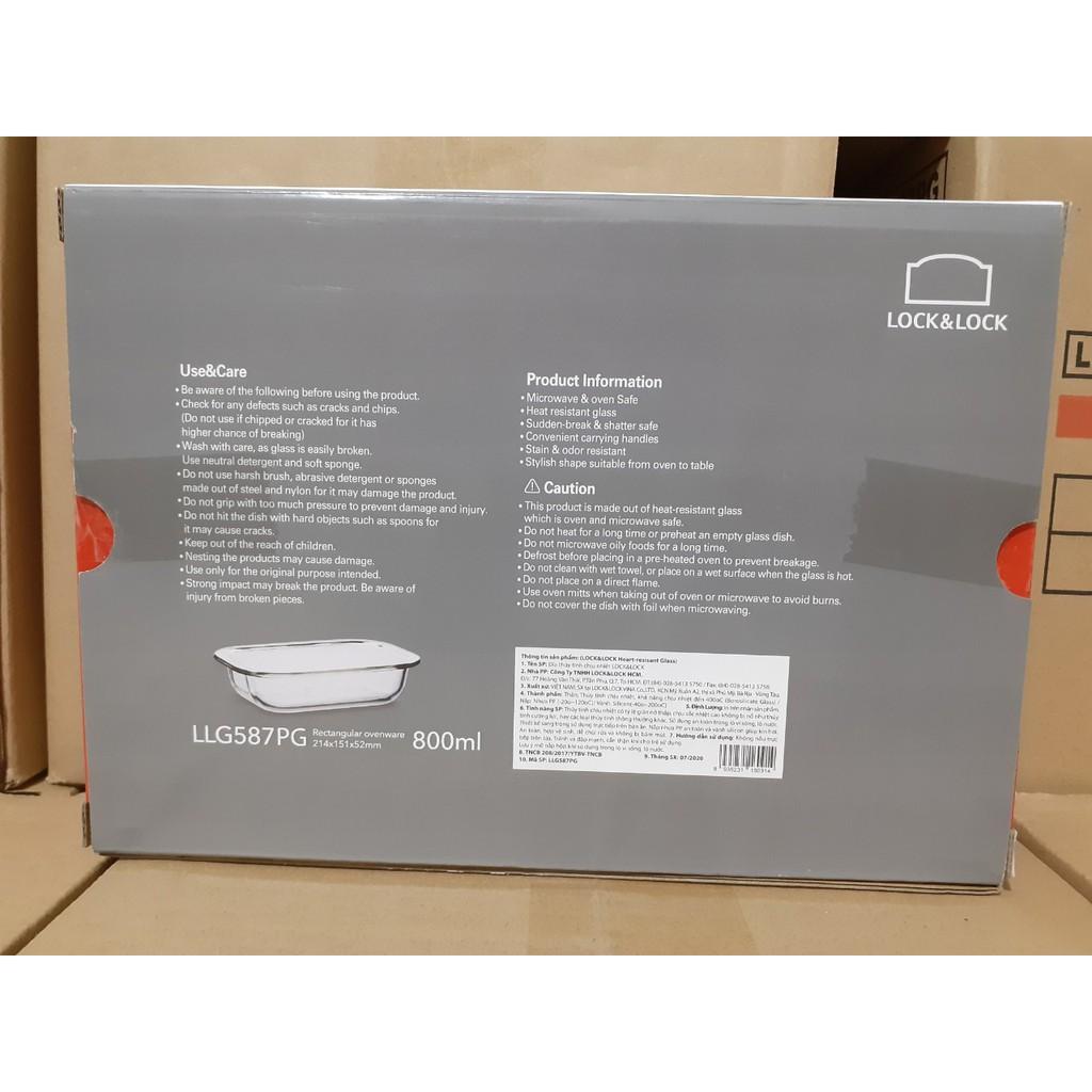 Khay nướng, đĩa thủy tinh chịu nhiệt cao cấp Lock&Lock LLG581 LLG582 LLG587 LLG588 dung tích 800ml - 1.3L