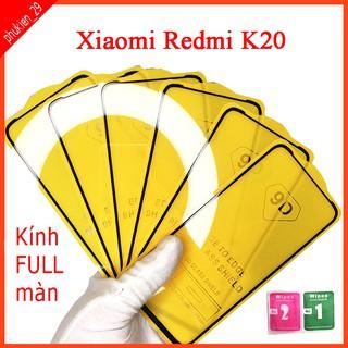Kính cường lực Xiaomi Redmi K20 full màn hình, Ảnh thực shop tự chụp, tặng kèm bộ giấy lau kính taiyoshop2 thumbnail