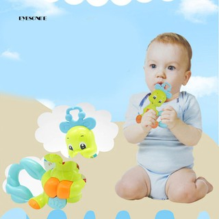 ♕Cute Colorful Cartoon Elephant Animal Hand Rattle Toy Shaking Jingle Bell Gift