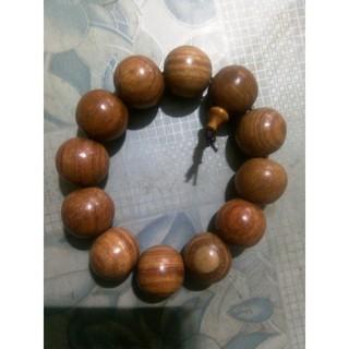 Tràng hạt đeo tay bằng gỗ, đường kính hạt 16 mm, thích hợp cho nam giới đeo