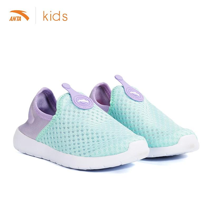 [Mã FARSBR152 giảm 15% đơn 99K] Giày lười cho bé gái Anta Kids siêu nhẹ , chống lật gót W32729907-1