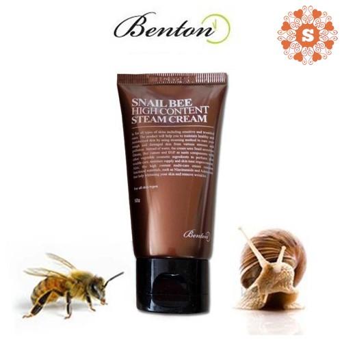 (Hàng Công Ty) Kem dưỡng Snail Bee High Content Steam Cream Benton