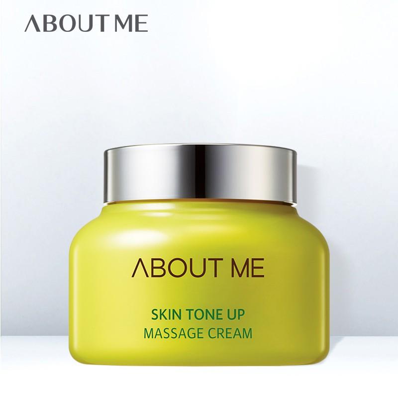 About Me Skin Tone Up Massage Cream 150ml ครีมนวดหน้าเนื้อนุ่มช่วยขจัดเซลล์ผิวเก่า บำรุงผิวกระจ่างใส