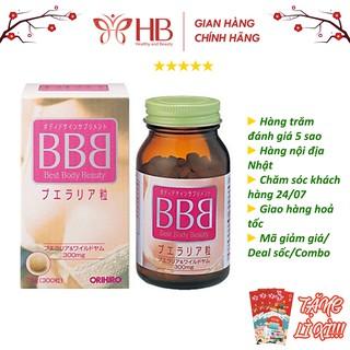 [Chính Hãng] Viên uống tăng kích thước vòng một ORIHIRO BBB Best Beauty Body giúp săn chắc ngực, 300 viên/hộp