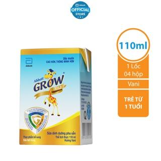 Lốc 4 hộp Sữa nước Abbott Grow Gold 110ml