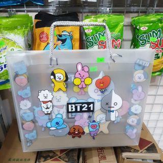 Túi Nhựa Trong BT21 Siêu Đẹp Siêu Phong Cách