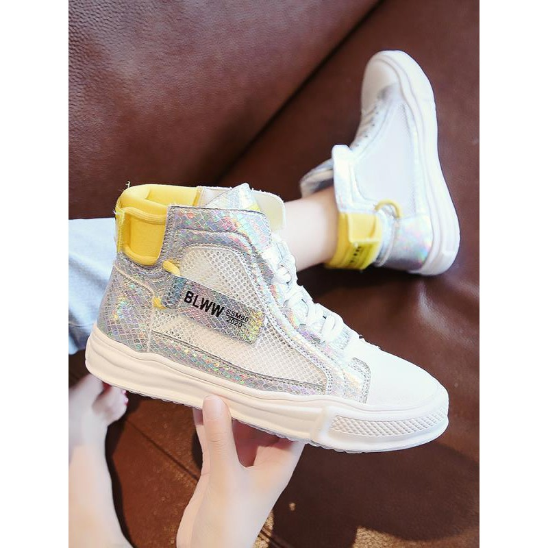 High-top canvas shoes female summer Korean version of breathable casual shoes students white shoes