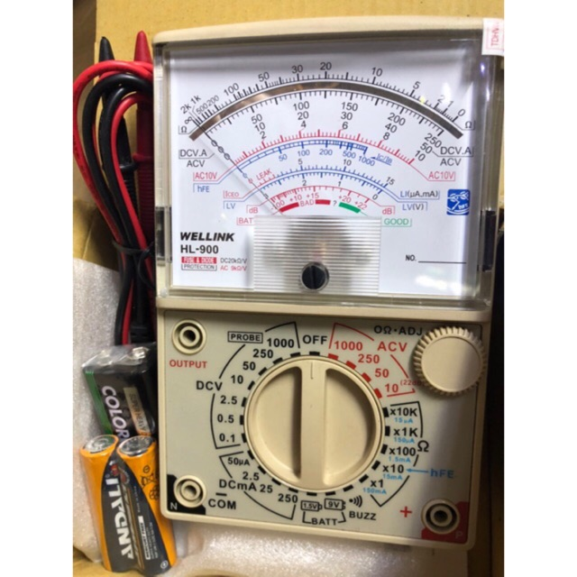 Đồng hồ đo vạn năng kim cơ WELLINK HL-900
