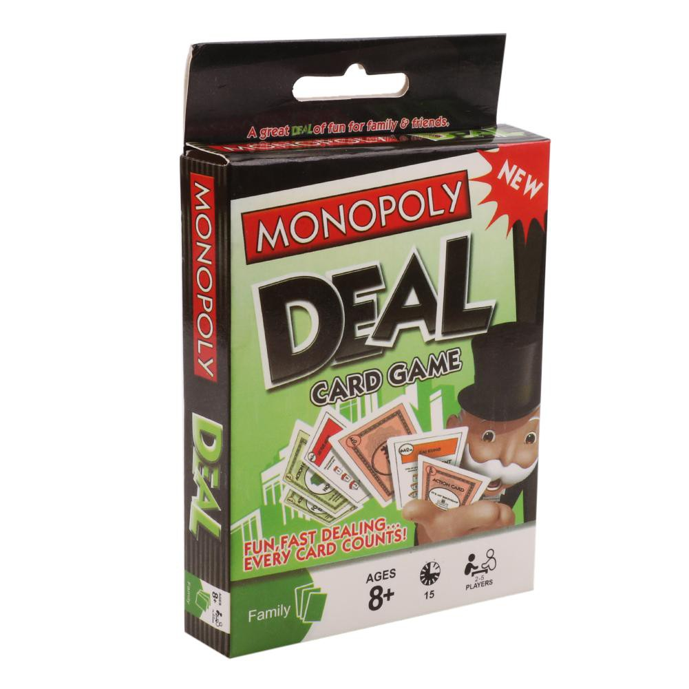 1 Box Monopoly Deal Card Game Playing Cards Adult Humanity Party Supplies Mkchung.vn