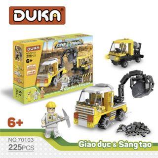 Đồ chơi Ghép hình xây dựng thành phố - DuKa(225 chi tiết) thumbnail