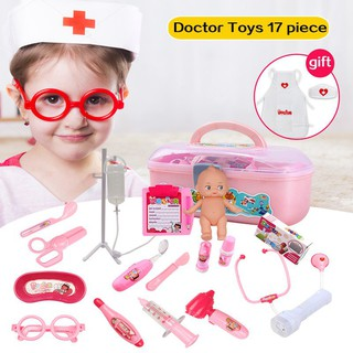 17pcs Doctor Play Toys Set Doctora Juguetes for Child