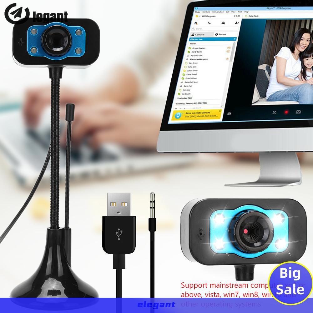 Webcam Egx0.3Mp Hd Có Micro Cho Máy Tính