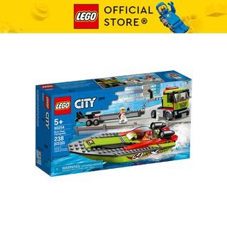LEGO CITY 60254 Thuyền Đua Vận Chuyển ( 238 Chi tiết) Bộ gạch đồ chơi lắp ráp giao thông cho trẻ em