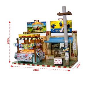 Mô hình nhà gỗ tự ráp DIY - AD01 - Sạp báo tí hon (Tặng keo Siliglue 20ml)