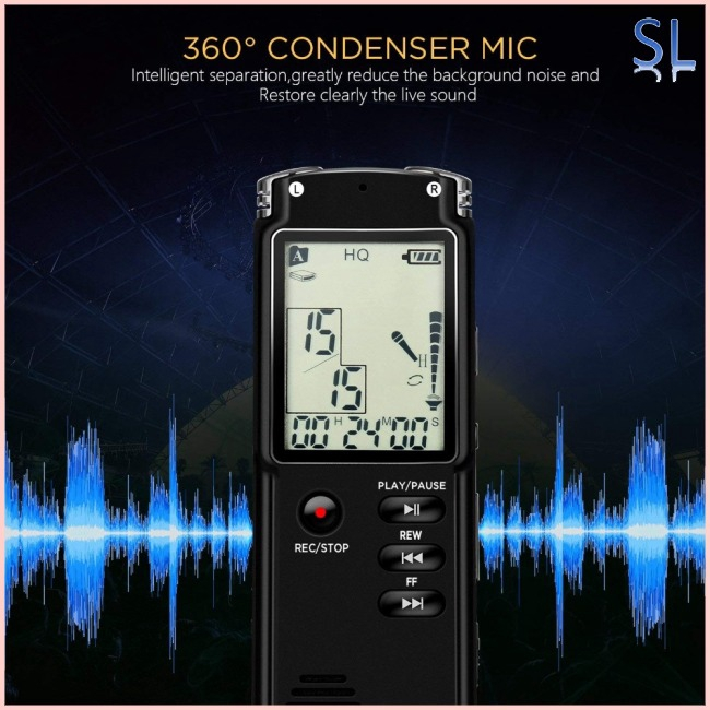 8GB/16GB/32GB Voice Recorder USB Professional Dictaphone Digital Audio Voice Recorder with WAV MP3 Giá chỉ 329.700₫