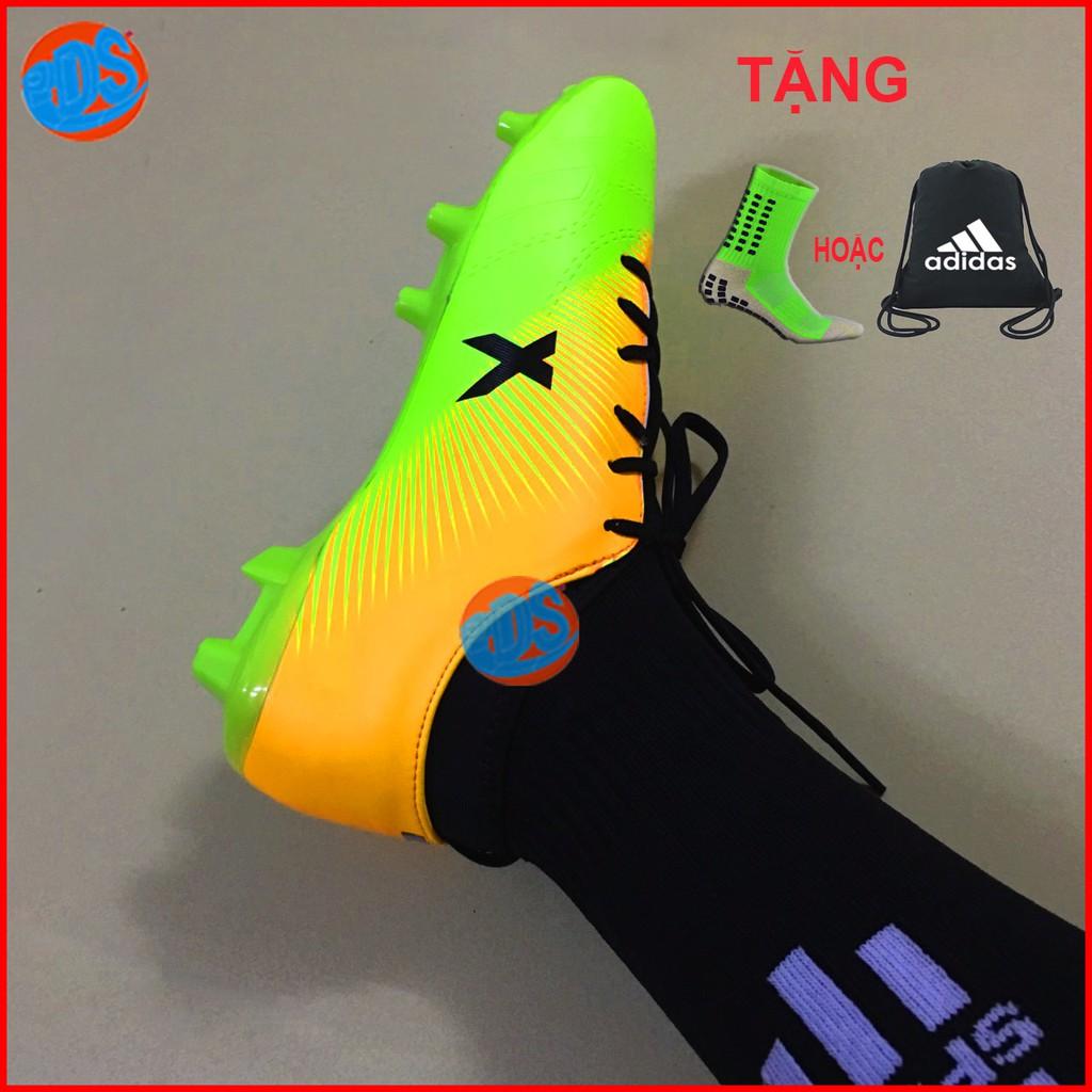 Giày Đá Bóng Đinh Cao X18 Cao Cấp- Giày đá bóng đinh to sân cỏ tự nhiên X18 Xanh Blue