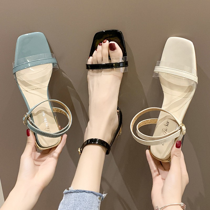 with summer 2019 new high heels Korean version of the wild with the fairy shoes