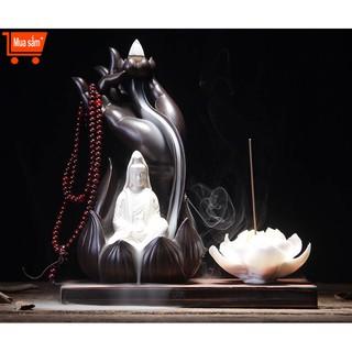 Thác khói trầm hương – Phật Thủ Quan âm tặng kèm 5 nụ trầm Việt tự nhiên