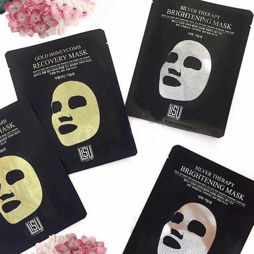 Mặt nạ Giấy Thiếc Dưỡng Trắng, Mờ Tàn Nhang, Thâm Nám Lisu Silver Therapy Brightening Mask