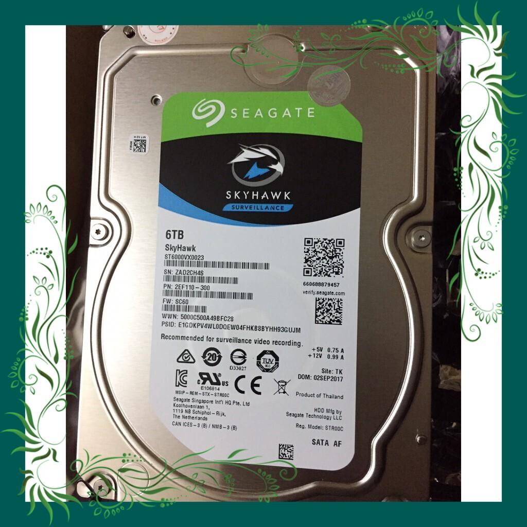 (Sale Mọi Nhà) Ổ Cứng HDD Seagate SkyHawk 6TB/128MB/3.5 – ST6000VX0023 tiết kiệm điện năng Giá chỉ 7.800.000₫