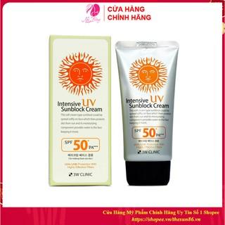 [Nhập Khẩu Hàn Quốc] Kem chống nắng 3W Clinic Intensive UV Sunblock Cream Hàn Quốc SPF 50 PA+++ 70ml