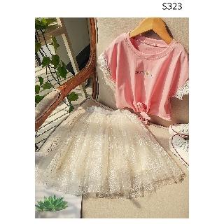 (13-36kg)- Chân váy ren xòe cho bé gái S323