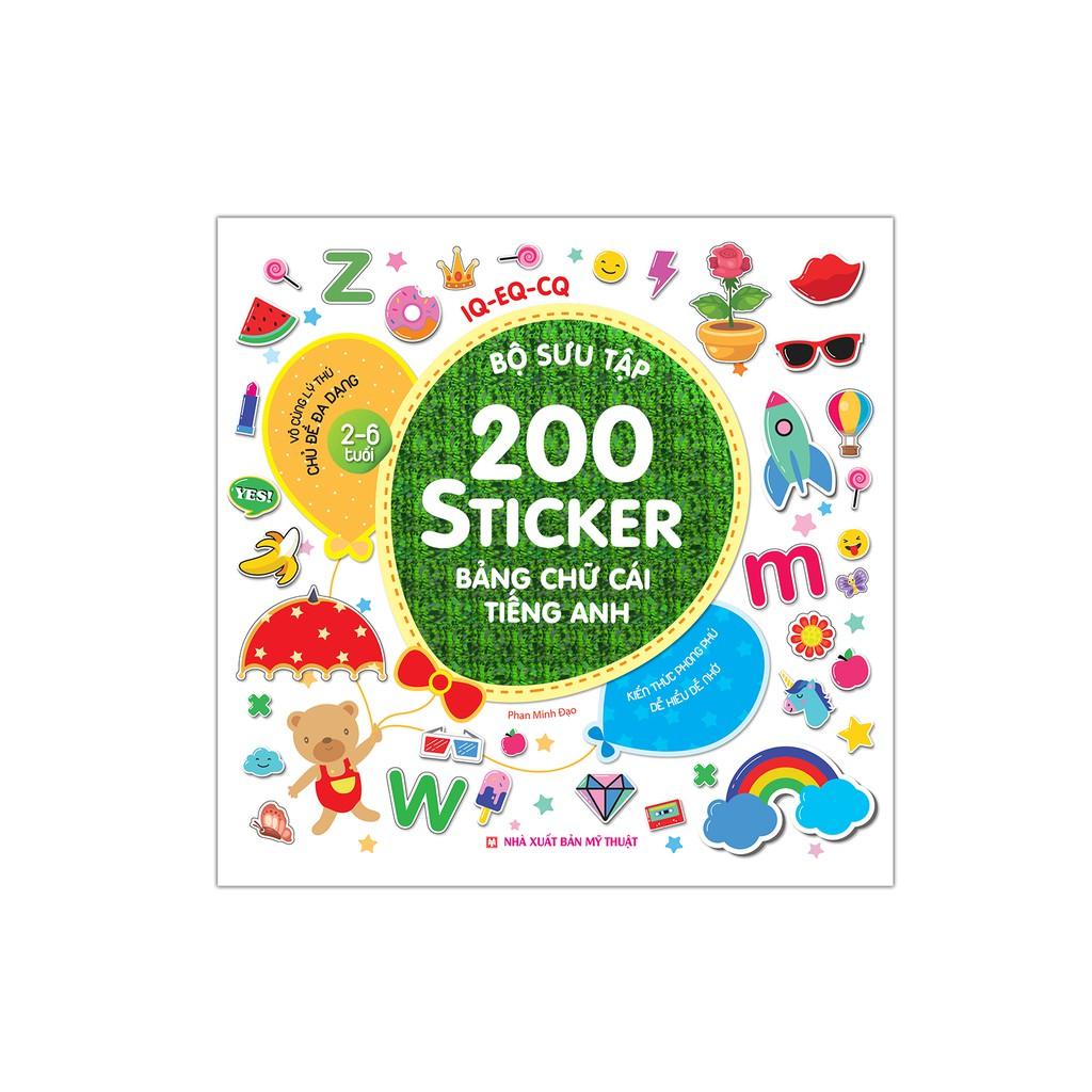 Sách - Bộ sưu tập 200 sticker - Bảng chữ cái tiếng Anh