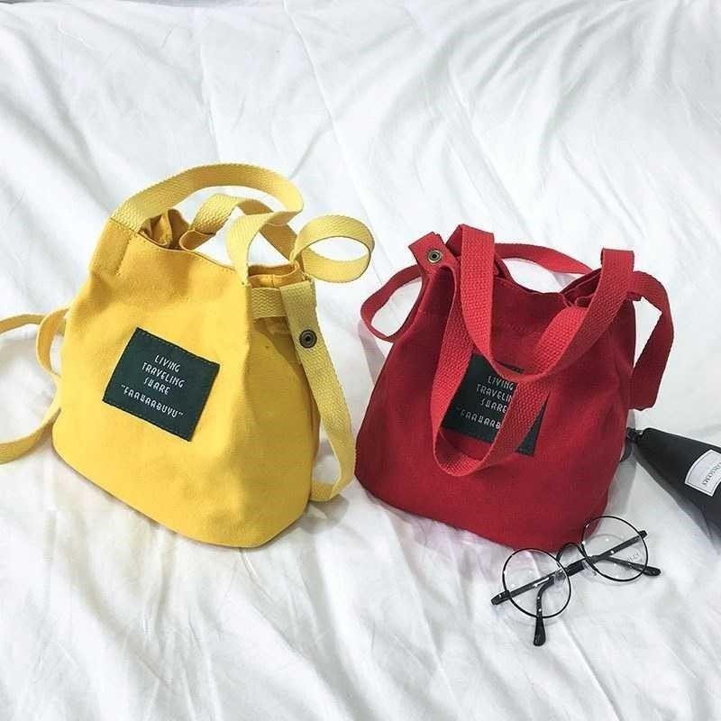 Túi vải tote mini đeo chéo thời trang phong cách Hàn Quốc giá rẻ đẹp tiện lợi