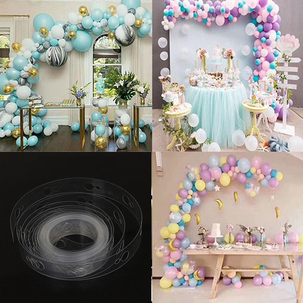 2Pcs 5M Balloon Chain DIY Latex Balloons Modeling Tool Wedding Party Decorating Arch Connect Strip