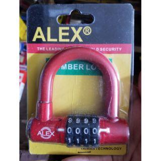 Ổ khóa số tự chọn chữ U alex hàng công ty thumbnail
