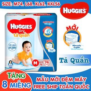 TÃ QUẦN HUGGIES SUPER JUMBO – TẶNG 8 MIẾNG. Đủ Size: M74/L68/XL62/XXL56