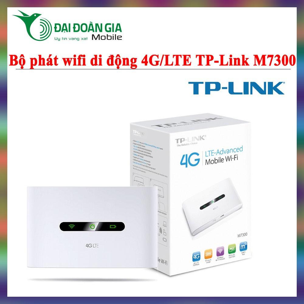 TP-Link M7300 - Bộ phát wifi di động 3G/4G/LTE - Gọn nhẹ tiện dụng - 3531189 , 1002399936 , 322_1002399936 , 1299000 , TP-Link-M7300-Bo-phat-wifi-di-dong-3G-4G-LTE-Gon-nhe-tien-dung-322_1002399936 , shopee.vn , TP-Link M7300 - Bộ phát wifi di động 3G/4G/LTE - Gọn nhẹ tiện dụng